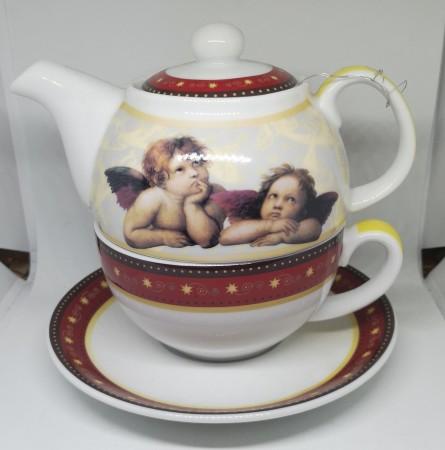 Angel tea set plus, loose leaf infusion and tea caddy