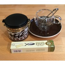 Tea Set For One with Double Wall Glass Tea Cup