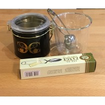 Double Wall glass Tea Set (Tea caddy, Tea infuser and 100g any tea you choose from the website0