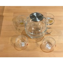 Glass Tea Set and 3x 20g different  Loose leaf tea FREE
