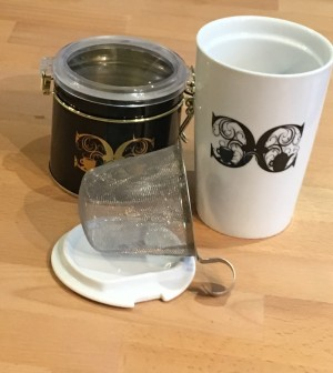 Cup with Strainer and Tea Tin